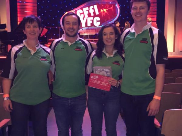 Carmarthenshire YFC members on Wales level