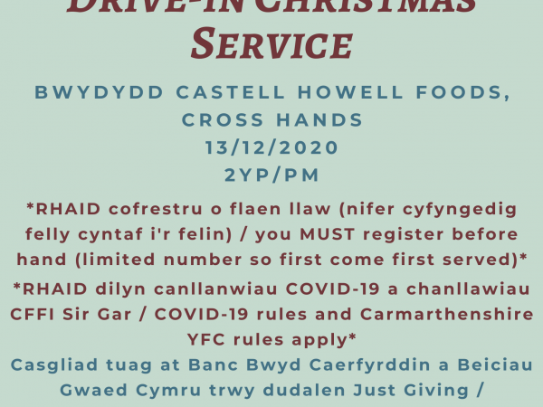 CARMARTHENSHIRE YFC DRIVE IN CHRISTMAS SERVICE