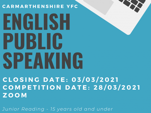 Carmarthenshire YFC Virtual Public Speaking Weekend 2021